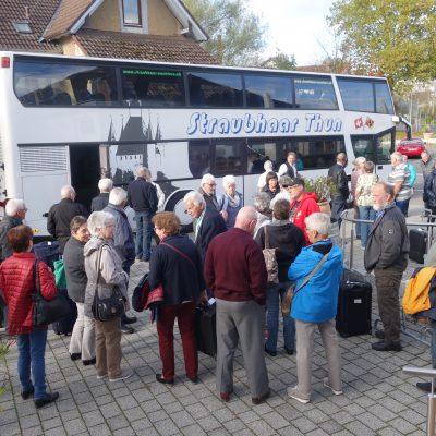 Straubhaar warten auf den Bus